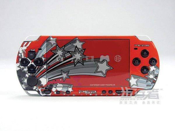 VINYL SKIN for Sony new PSP 2000 Red Theme 17