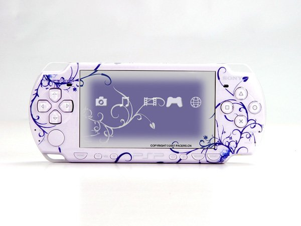VINYL SKIN for Sony new PSP 2000 Deep Blue Theme t03