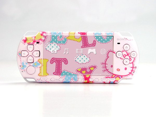 VINYL SKIN for Sony new PSP 2000 Hello Kitty Theme t04