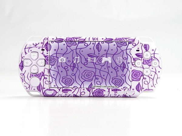 VINYL SKIN for Sony new PSP 2000 Purpur t07