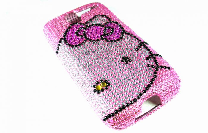 Pink Hello Kitty Bling Crystal Case Cover for HTC G7 Desire