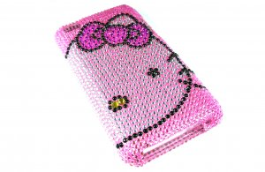 Pink Hello Kitty Bling Crystal Case Cover for Apple iPod Touch 4 iTouch 4