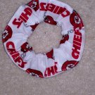 Kansas ity Chiefs Football White Fabric Hair Scrunchie Scrunchies NFL