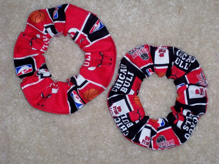 Chicago Bulls Basketball Fabric Hair Scrunchie Scrunchies NBA