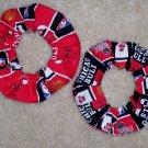 Chicago Bulls Basketball Fabric Hair Scrunchie Scrunchies NBA