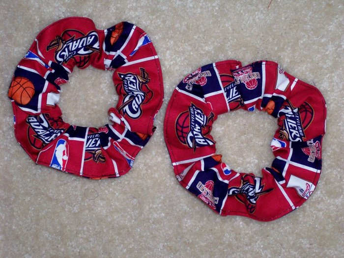Cleveland Cavaliers Basketball Fabric Hair Scrunchie Sceunchies NBA