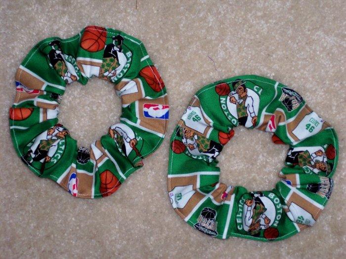 Boston Celtics Basketball Fabric Hair Scrunchie Scrunchies NBA