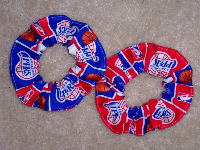 Los Angeles Clippers basketball Fabric Hair Scrunchie Scrunchies NBA