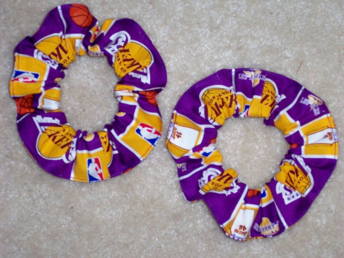 Los Angeles Lakers Basketball Fabric Hair Scrunchie Scrunchies NBA