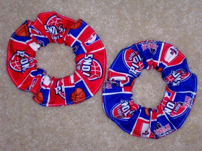 Dertoit Pistons Basketball Fabric Hair Scurnchie Scrunchies NBA