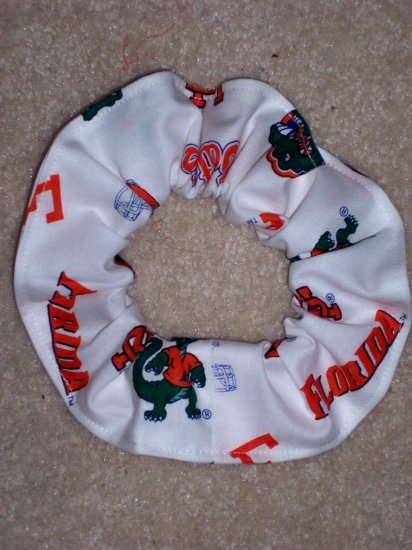 Florida Gators College New White Fabric hair Scrunchie Scrunchies NCAA