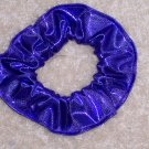 Purple Metallic Foil Glitter Knit Fabric Hair Scrunchie Scrunchies
