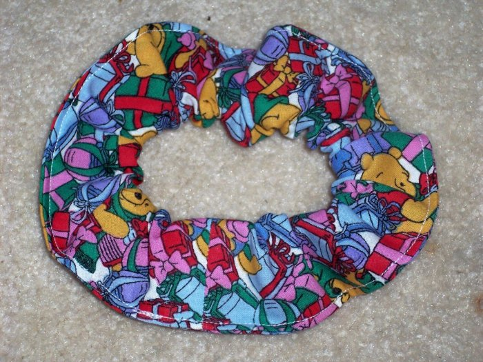 Winnie the Pooh Christmas presents Fabric hair Scrunchie Scrunchies Disney
