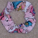 Smiling Faces Baby Nurses Scrub Print Fabric Hair Scrunchie Scrunchies