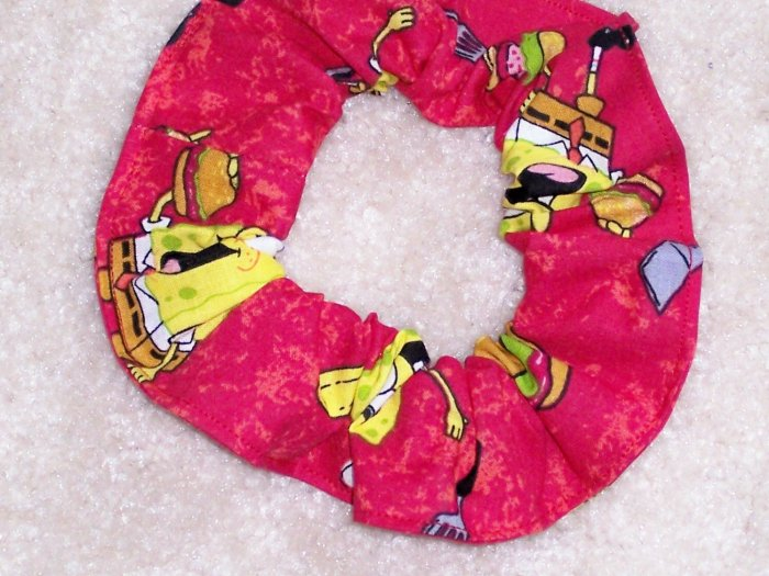 Spongebob Squarepants Hamburger Party Fabric Hair Scrunchie Scrunchies