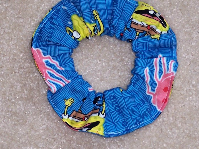 Spongebob Squarepnts Jumping Jellyfish Fabric Hair Scrunchie Scrunchies