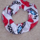 Coca Cola Coke 600 NASCAR Fabric Hair Scrunchie Scurnchies