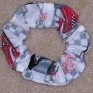 Coca Cola Coke Polar Bear Checkered Coke Bottles NASCAR Racing Fabric Hair Scrunchie Scrunchies