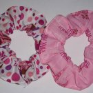2 Pink Panther Fabric Hair Scrunchies Scrunchie