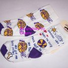 2 Los Angeles Lakers Basketball Toddlers Socks  6-8 NBA