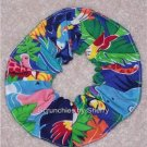Bright Colorful Zoo Animals Fabric Hair Ties  Scrunchie