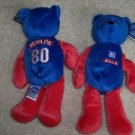 Buffalo Bills Eric Moulds #80 BEANIE BEAR NFL