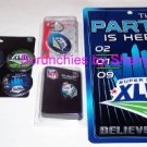 Super Bowl 43 XLIII Pin Key Ring Sign 6 Pin Set NFL NEW