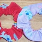 2 Blues Clues  Fabric Hair Scrunchie Scrunchies