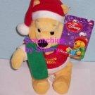 Disney 9 inch Winnie the Pooh Bear Christmas Plush NWT