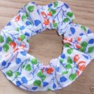 Orange Floral Flowers Fabric Hair Scrunchie Scrunchies