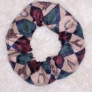 Horses Horse Shoes  Fabric Hair Scrunchie Scrunchies