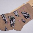 Panda Bears Toddlers Socks 4-6 NWT For Bare Feet