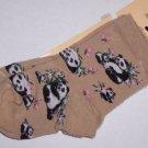 Panda Bears Toddlers Socks 4-6 NWT For Bare Feet