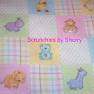 Baby Farm Animals Flannel Blanket & 2 Burp Cloths NEW