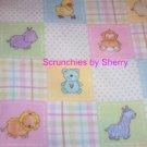 Baby Farm Animals Flannel Blanket & 2 Burp Cloths NEW