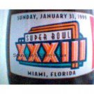 Super Bowl XXXII Miami, Florida Coke Coca Cola Bottle