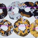 7 Pittsburgh Steelers Fabric Hair Scrunchies Ties NFL