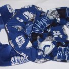 3 Indianapolis Colts Fabric Hair Scrunchies Ties NFL