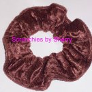 Light Brown  Panne Velvet Fabric Hair Scrunchies Scrunchie