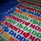 I Love Mom & Dad Baby Toddler Fleece Blanket Throw NEW