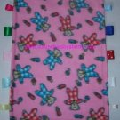 Red & Blue Teddy Bears Ribbon Tags Blanket Baby Girl