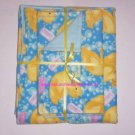Yellow Ducks Bubbles Girl Boy Blanket & 2 Burp Cloths