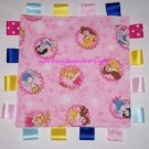 Pink Disney Princess Flannel Ribbon Blanket Baby Girl