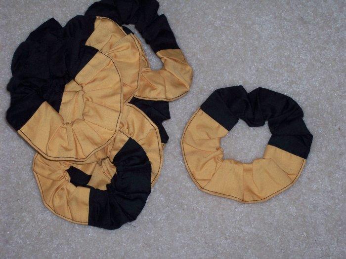 12 Custom Two Colors School Team Cheerleader Fabric Scrunchies Scrunchie