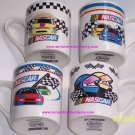 4 2002 NASCAR Racing Cars Flags Coffee Mugs Gibson Mug