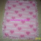 I Love John Deere Pink Fleece Baby Pet Dog Lap Blanket