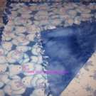 Blue Teddy Bears Fleece Baby Pet Doggie Blanket