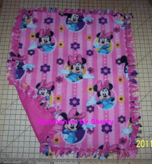 Disney Pink Minnie Mouse  Fleece Baby Pet Lap Blanket