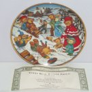 Teddy Bear Winter Frolic Snow Playing Collector Plate Franklin Mint Retired