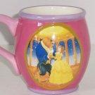 Disney Princess Belle Beauty Beast Coffee Mug Pink Purple Cup